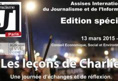 Assises internationales du journalisme et de l'information le 13 mars au CESE