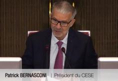 Discours de Patrick Bernasconi, assemblée plénière du CESE le 11 septembre 2019
