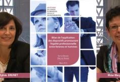 Bilan de l'application des dispositifs promouvant l'égalité professionnelle entre femmes et hommes