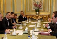 Rencontre de Patrick Bernasconi, président du CESE avec François Hollande