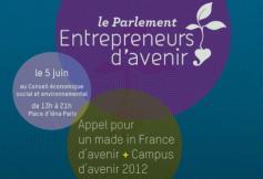 Séance exceptionnelle du Parlement des Entrepreneurs d'avenir le 5 juin 2012