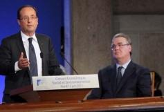 Visite du Président de la République lors de l'assemblée plénière du 12 juin