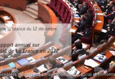 """Revoir la séance du 12/12/2012 : """"Rapport annuel sur l'état de la France en 2012"""""""