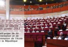 Revoir la séance du 16/01/2013 : Avant-projet de loi d'orientation et de programmation pour la refondation de l'école de la république