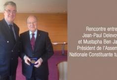 Rencontre entre Jean-Paul Delevoye et Mustapha Ben Jaffar, Président de l'Assemblée Nationale Constituante tunisienne