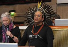 Réception d'une délégation de leaders autochtones Brésiliens d'Amazonie au CESE le 13 novembre 2019