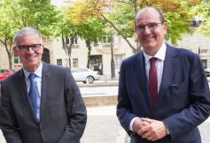 Le Premier ministre Jean Castex accueilli au CESE par Patrick Bernasconi