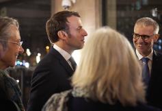 Emmanuel Macron présent au CESE pour la Convention Citoyenne pour le Climat le 10 janvier 2020