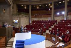"""Gérard Larcher, en séance plénière CESE """"La prévention et la réduction du chômage de longue durée"""" ©KatrinBaumann"""
