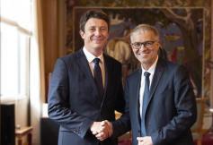 Patrick Bernasconi rencontre Benjamin Griveaux le 12 juin 2018