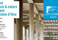 """Le CESE ouvre ses portes pour les Journées européennes du Patrimoine, cette année sur le thème """"Patrimoine naturel, patrimoine culturel"""""""