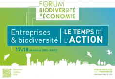 Forum biodiversité & économie, organisé par l'Agence Française pour la Biodiversité