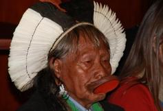 Rencontre avec les Caciques Raoni Metuktire et Megaron Txucarramae du peuple Kayapo