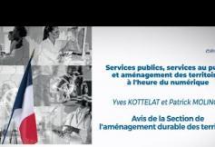 """Le CESE a adopté son avis """"Services publics, services au public et aménagement des territoires à l'heure du numérique"""""""