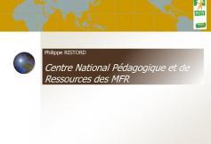 Audition de Philippe RISTORD (MFR) - Générations nouvelles - cese