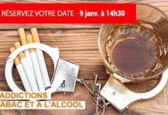 Addictions au tabac et à l'alcool - séance du 9 janvier 2019