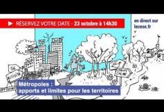 """Séance plénière du 23/10 """"Les métropoles : apports et limites pour les territoires"""""""