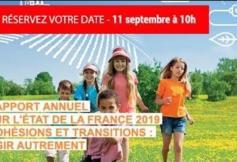 """Rapport annuel sur l'état de la France 2019 - """"Cohésion et transitions : agir autrement"""""""