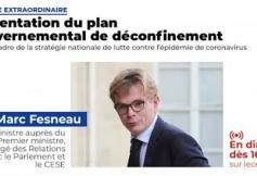Plan de déconfinement : présentation par le ministre Marc Fesneau devant les membres du CESE
