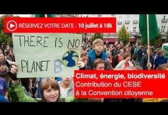 """Revoir la séance de présentation du projet d'avis """"Climat, énergie, biodiversité"""""""