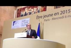 """François Hollande a rencontré la jeunesse sur le thème """"Etre jeune en 2015"""""""