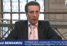 Audition de M. Bernard BENHAMOU, délégué aux usages de l'Internet au ministère de l'enseignement supérieur et de la recherche