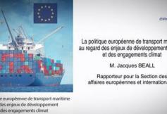 Le CESE a rendu son avis sur la politique européenne de transport maritime