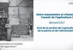 """Le CESE a adopté son avis """"Entre transmettre et s'installer, l'avenir de l'agriculture !"""""""