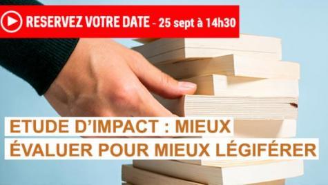 Suivez en direct la séance plénière consacrée aux études d'impact