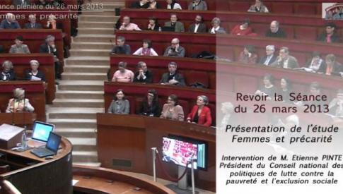 Revoir la séance du 26 mars 2013 : Femmes et précarité