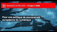 """Revoir la séance plénière """"Pour une politique de souveraineté européenne du numérique"""""""