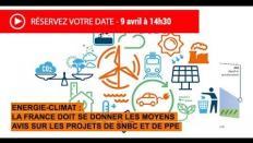 Présentation du projet d'avis sur les projets de SNBC et de PPE